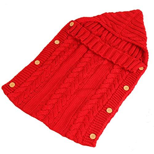 COSYOO Manta suave de punto para bebé recién nacido, cálida, lavable, bolsa de banderines