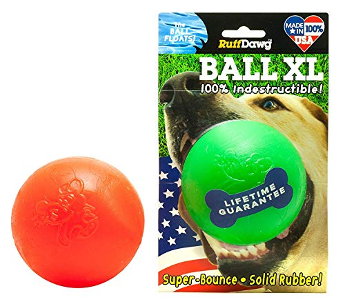 pet supplies balls Ruff Dawg Ball XL Solid Rubber Dog Toy Large Assorted Neon Colors