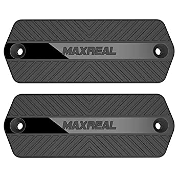 MAXREAL Gun Magnet 55lbs Rated.HQ Rubber Coated Magnetic Pistol Mount & Holster for Vehicle Truck Home Car Safe Table & Wall Tactical Firearm Concealment Holder Accessories  2-Pack