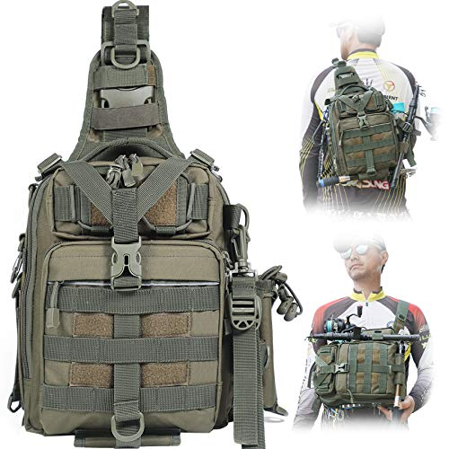 BLISSWILL Fishing Backpack Outdoor Tackle Bag Large...