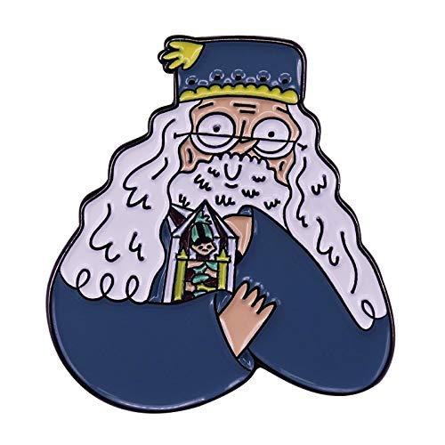 wangk Edición de Dibujos Animados Dumbledore Lapel Pin