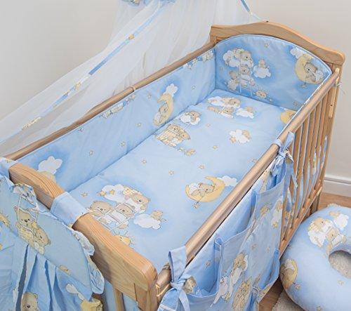 6 pièces Chambre Parure de lit pour lit bébé 140x70 cm - motif 4