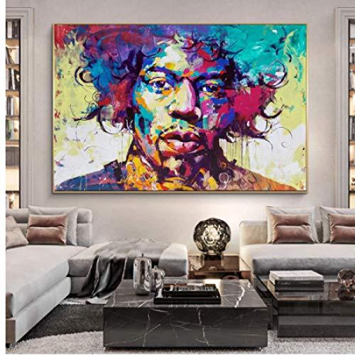 Póster y pintura 60x90cm sin marco moderno abstracto colorido hombre Graffiti arte pared imágenes artísticas para decoración de sala de estar