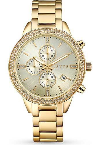JETTE Damen-Uhren Analog Akku One Size Gold 32018376
