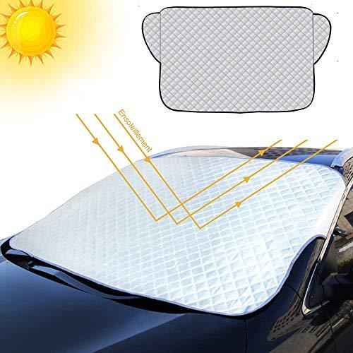 JUMKEET Couverture Pare-Brise de Voiture Pare Soleil Neige Anti-Givre Pare-Brise Avant Anti UV Repliable Universelle pour Voiture...