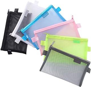 کیف لوازم التحریر کیف مداد DIYOMR 6 عدد مداد پاک کن کیف لوازم التحریر کیف های کوچک کیف نگهدارنده مداد زیپ دار نگهدارنده شبکه پاک کننده شبکه لوازم آرایشی
