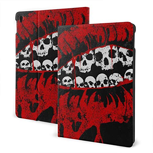 Compatible with Ipad Air3 10.5 Ipad Case Apple Generation Skull Red Lips Screen Protector Mini Case 2020 Anti-Slip Full Protection Stand Cover Slim Fold Auto Wake/Sleep