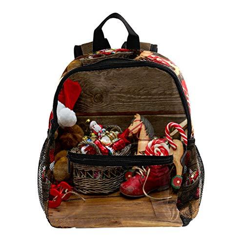 Mochila escolar para niños, mochila escolar, diseño de copos de nieve, color rojo, dorado