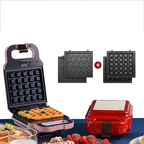 YC° 4 in 1 Waffeleisen Elektro Cake Maker Toasten, Grillen Omelettes Frühstück Donut Sandwich Toaster für Haushalt Küche