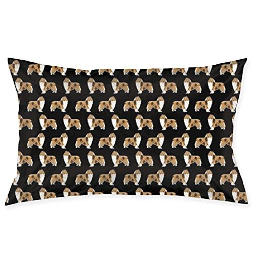 Rough Collie - Colcha de tela para perro, diseño de collie con estampado de collie, bonito diseño de perro, bolsa de viaje de gran capacidad, correa de hombro extraíble