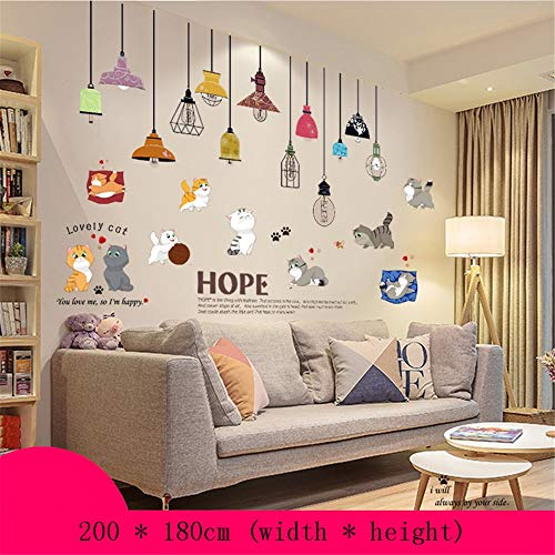 Muursticker3d Stereo Sticker Slaapkamer Bed Hoofd Achtergrond Wanddecoratie Muurpapier Behang Zelfklevend 200 x 180cm Q
