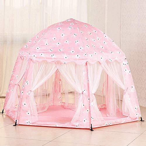 FEE-ZC Lovely 6-Sides Pink Little Girls Princess Castle Carpa Tipi Yurt Carpa de Juego para niños Casa de Juegos para Interiores Habitación de Juguetes Jardín al Aire Libre Casa de