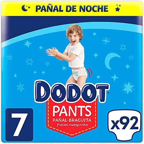 Dodot Pañales Bebé Pants Talla 7 (+17 kg), 92 Pañales, Pañal-Braguita con Ajuste 360° Anti-Fugas
