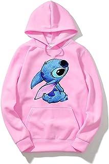 guoweiweiB Sudadera Juvenil con Capucha Lilo&Stitch Hoodies-Boys Girls Hooded Sweatshirts Cute Cartoon Hoodies Pullover Tops