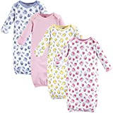 Luvable Friends baby girls Cotton Nightgown, Floral, 0-6 Months US