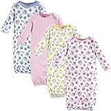 Luvable Friends Unisex Baby Cotton Gowns, Floral, 0-6 Months US