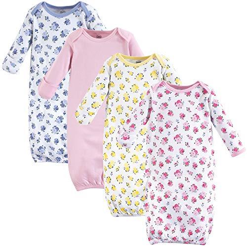 Luvable Friends - Vestidos de algodón Unisex para bebé, Floral, 0-6 Meses