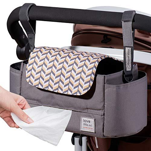 SUNVENO Love Little Me - Organizador para cochecito de bebé, color gris