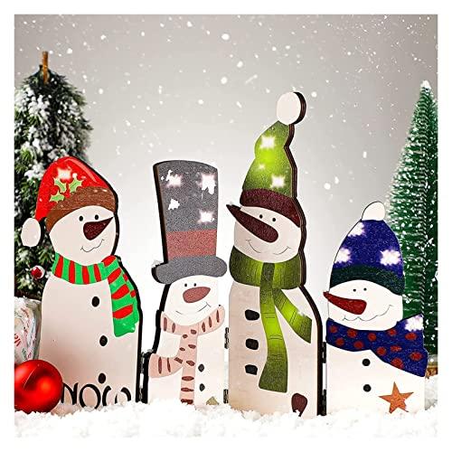 ArreBaL Christmas Decorations Decorazioni Natalizie Legno Pupazzo di Neve in Legno Pieghevole Decorazione for la casa for Il Camino di Natale Festa all'aperto, Pupazzo di Neve