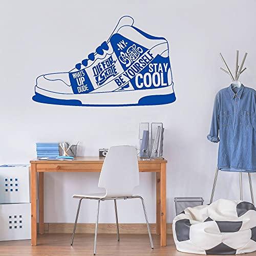 Zapatillas de deporte pegatinas de pared decoración del hogar estilo urbano pegatina de vinilo arte Mural cartel pegatina de pared A5 57x36cm