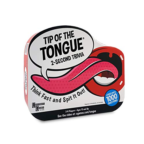 Tip of The Tongue, The Split S Trivia Party Game, How Fast Can You Spit Out Answers, for 2 to 6 Players, Ages 12 & Up (Renewed) JungleDealsBlog.com