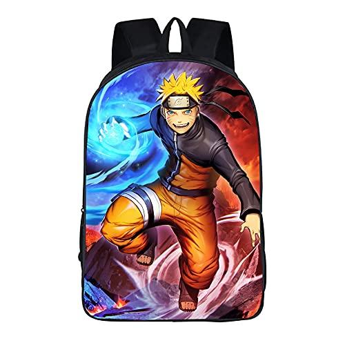 Tovoo Borsa scuola Naruto Uzumaki Stampa 3D zaino ragazzo e ragazza Le borse scuola Naruto sono adatte per ragazzi e ragazze 16 pollici-Anime