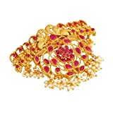 Apara Ruby Traditional Bridal Hair Clip Accessories Jewellery for Women/Girls