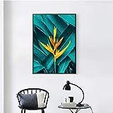 GJQFJBS Fleur Abstraite Mur Art Mode Fille Impression sur Toile Peinture Nordique Affiche Salon Décoration Murale A6 70X100 cm