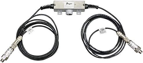 Dwyer Wet/Wet Differential Pressure Transmitter, 629C-05-R1-P1-E5-S3, with Remote Sensor, 10' Shielded Cable, Range 100 psid