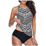 2021 Nuevo Mujer Conjuntos de Bikinis Hawai impresión Push Up Trajes de Baño de Tanga Cintura alta dos piezas deporte Ropa de Playa Sexy Tankinis Conjunto de Bikinis Beachwear Natacion Bañador