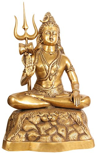 Exotic India Blessing Shiva - Brass Sculpture