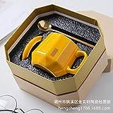 Xiaobing Creativo semplice tazza di caffè diamante personalità tazza casa colazione tazza tazza di acqua in ceramica -C297-301-400ml