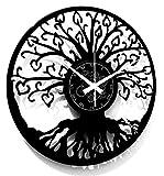 Instant Karma Clocks Reloj de Pared Vinilo Árbol de la Vida, Negro