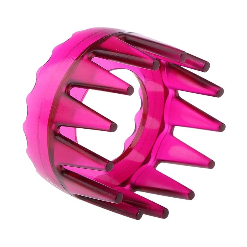 ホバー改善するここにSM SunniMix シャンプーブラシ 洗髪櫛 マッサージャー ヘアコーム ヘアブラシ 滑り止め 快適 リラックス 全4色 - ローズレッド