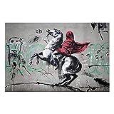 AdoDecor Leinwandbild Poster Banksy Napoleon Crossing The