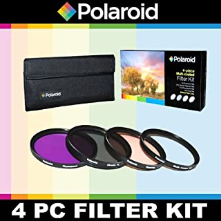 Polaroid Optics 4 Piece Filter Set (UV, CPL, FLD, WARMING) For The Nikon D40, D40x, D50, D60, D70, D80, D90, D100, D200, D300, D3, D3S, D700, D3000, D5000, D3100, D3200, D3300, D7000, D5100, D4, D4s, D800, D800E, D600, D610, D7100, D5200, D5300 Digital SLR Cameras Which Have Any Of These (18-200mm, 24-120mm, 135mm, 180mm, 24-85mm, 24-120mm F3)Nikon Lenses