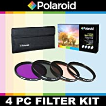 Polaroid Optics 4 Piece Filter Set (UV, CPL, FLD, WARMING) For The Olympus Evolt E-30, E-300, E-330, E-410, E-420, E-450, E-500, E-510, E-520, E-600, E-620, E-1, E-3, E-5 Digital SLR Cameras Which Have Any Of These (14-42mm, 40-150mm, 70-300mm) Olympus Lenses