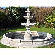 Garden fountain Ornate fountain surround contained
