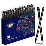 Rotuladores Coloring para niños, EooUooIP®️ 36 Colores Bolígrafos Para Colorear Plumas de Línea Fina con Punta Fina de 0,4 mm, Perfecto para Manualidades, Pintar Mandalas o Material Escolar