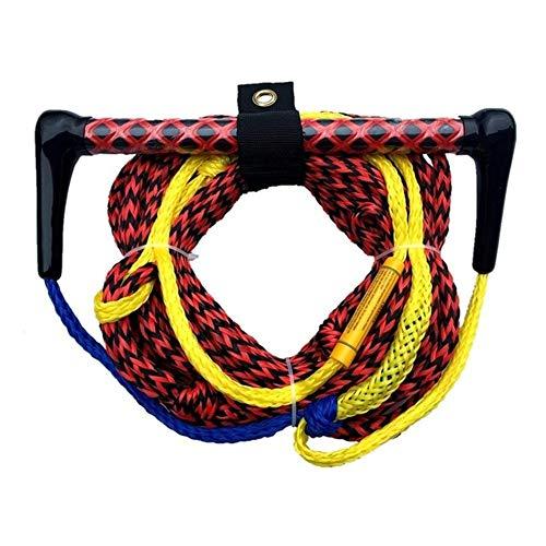 juqingshanghang1 Section 1 72ft Ski Nautique Corde avec poignée Flottant et EVA Grip Accessoires for Slalom Ski Nautique Wakeboard wakeskate Convient pour l extérieur (Color : Red Black)