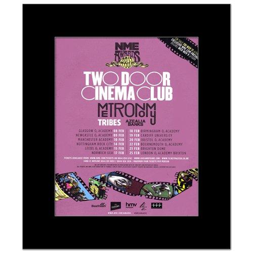 Music Ad World Mini-Poster, Motiv Zwei Door Cinema Club – NME Awards Tour, 31,8 x 28 cm