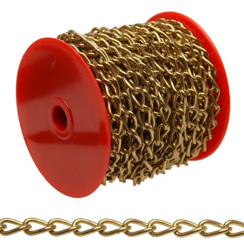 Campbell 0719017 Hobby and Craft Twist Chain, Brass Plated, #90 Trade, 0.056