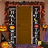 HONGID Halloween Decorations Outdoor Indoor -Trick OR Treat Happy Halloween Large Banners Porch Signs- Witch Decor for Home Front Door Outside Yard Garden Party Office