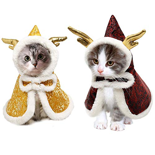 Kuoser Disfraz de Capa de Invierno para Mascotas Estilo Chino con...