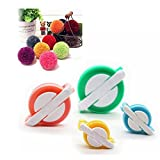 Pompom Maker, EFly 4 Pcs Different Sizes Pom-pom Maker Fluff Ball Weaver Needle Craft DIY Wool Knitting Craft Tool Set for Kids and Adult