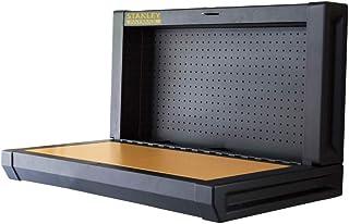 Stanley Inklapbare werkbank (eenvoudige wandmontage, ruimtebesparend, tot 100 kg, ideaal voor garage, 90 x 45 cm, met gate...