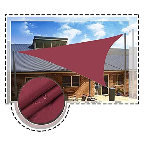 LYQCZ Toldo Vela de Sombra, Impermeable Exterior Jardín Patio Fiesta Protector Solar Awing Triángulo Pabellón 98% Bloque UV (Color : Wine Red, Size : 4x4x5.7cm)