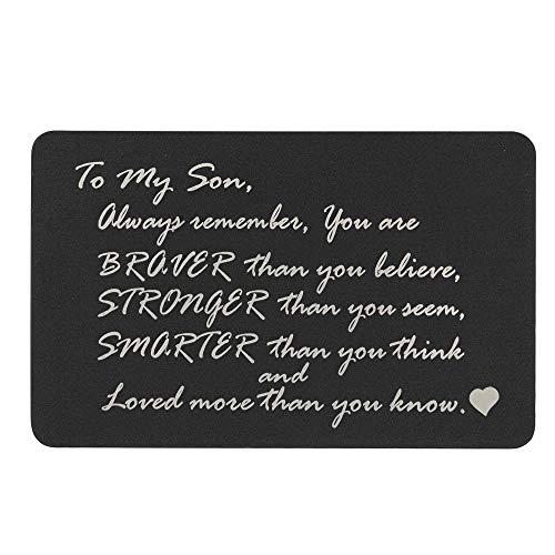 Queenberry SPA1011-DAU-PAR, Portafogli Donna Nero Love Son Text + Photo Engraving (Aluminum) Regular