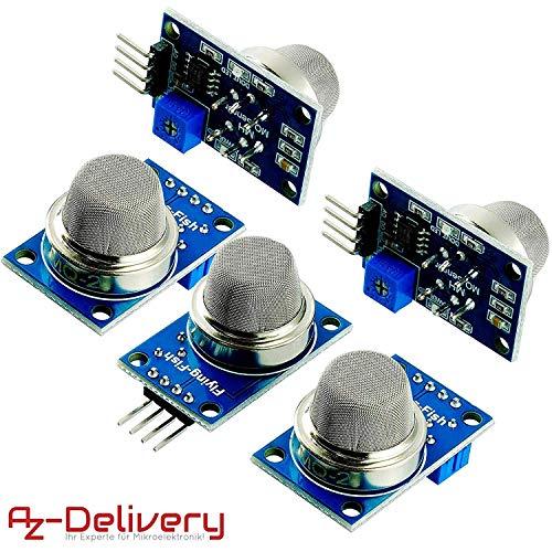 AZDelivery 5 x MQ-2 Gas Sensor Rauch Sensor Luftqualität Modul für Arduino