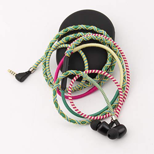 URIZONS Auricolari con filo Cuffiette Cuffie in Ear con cancellazione del Rumore Microfono for telefone Cellulare, Il Compter Portatile (60A)
